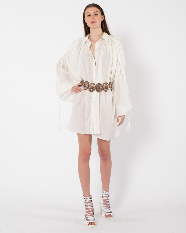 REDEMPTION Plumetis Shirt Dress | newtntfashion.