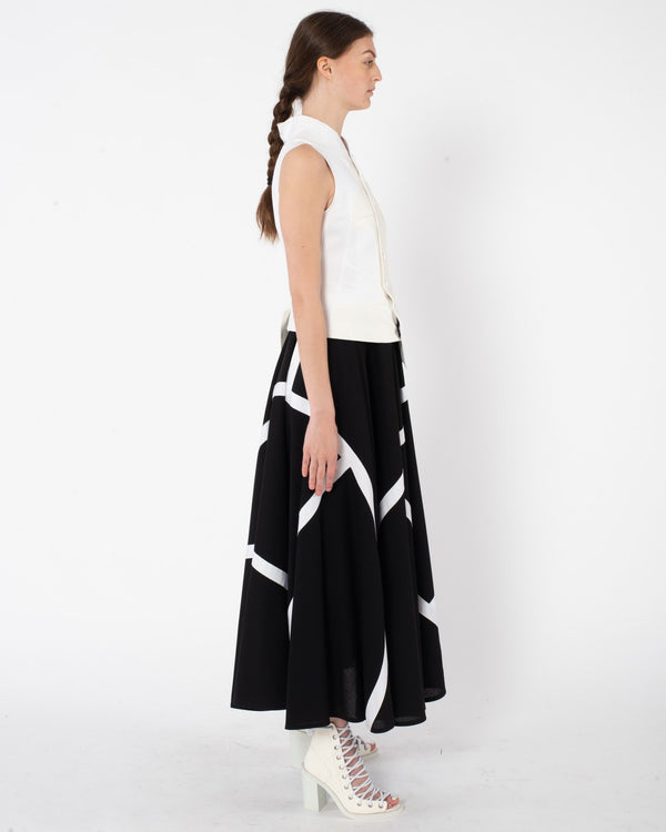 SHIRO SAKAI Detachable Vest Dress | newtntfashion.