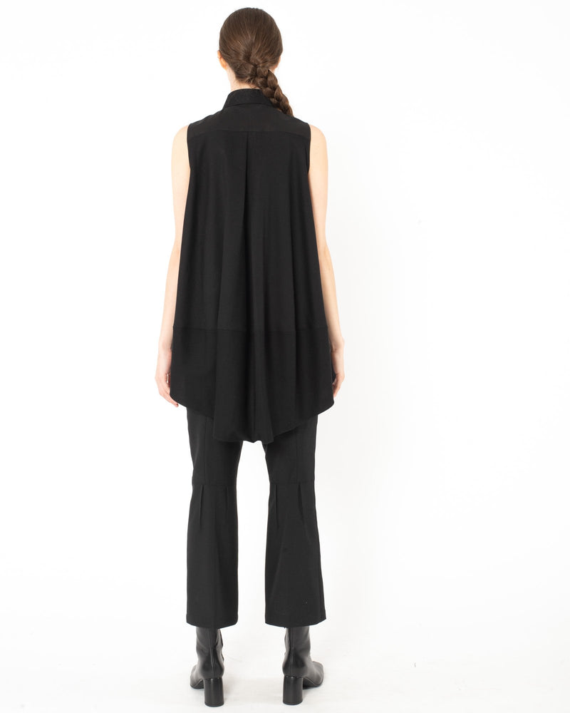 SHIRO SAKAI - Short Sleeve Blouse | Luxury Designer Fashion | tntfashion.ca