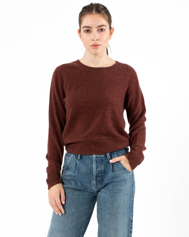 NAADAM - Crop Crewneck Pullover Sweater | Luxury Designer Fashion | tntfashion.ca