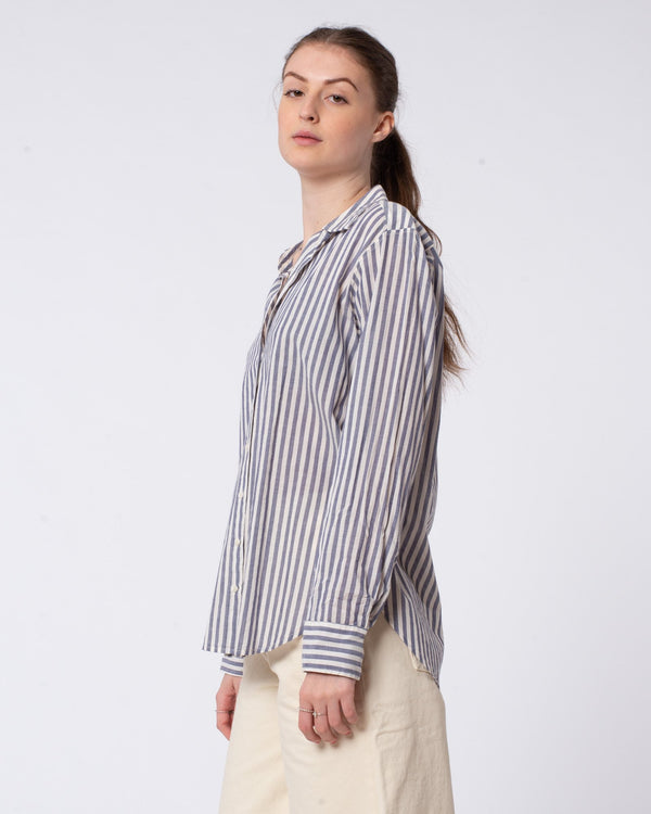 XIRENA Beau Button Down Stripe Shirt | newtntfashion.
