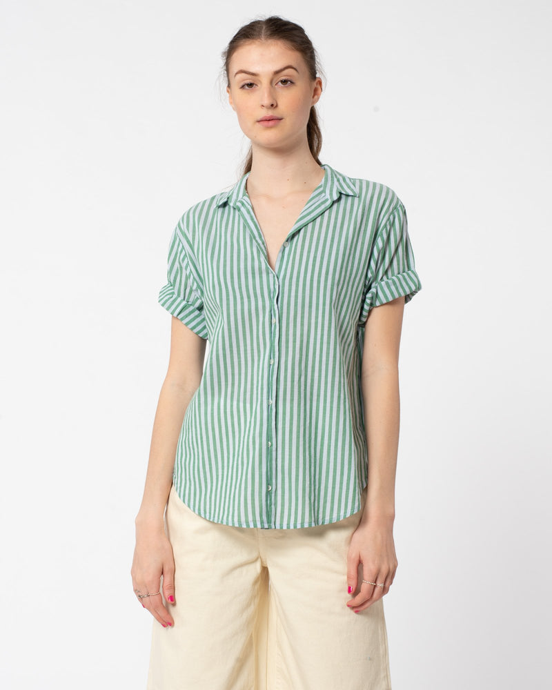 Channing Short Sleeve Button Down Stripe Shirt