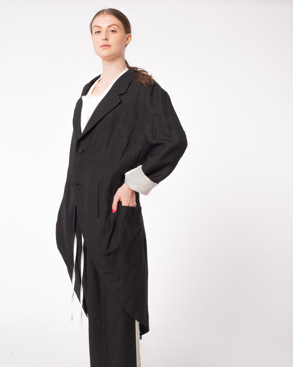 Y'S - U-Detachable Collar Jacket | Luxury Designer Fashion | tntfashion.ca