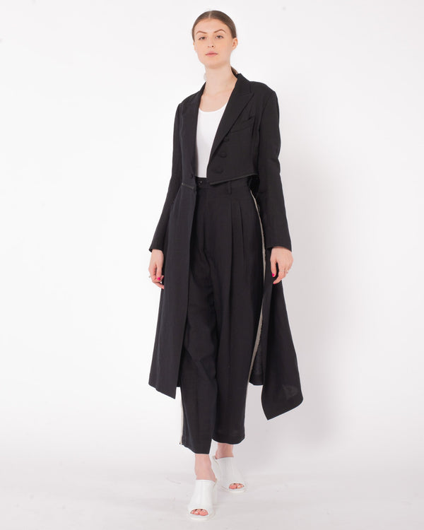 Y'S - U-Fastener Shallow Tail Jacket | Luxury Designer Fashion | tntfashion.ca