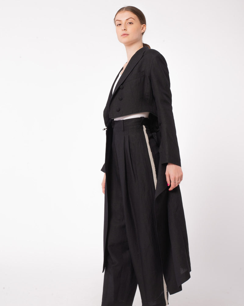 Y'S U-Fastener Shallow Tail Jacket | newtntfashion.
