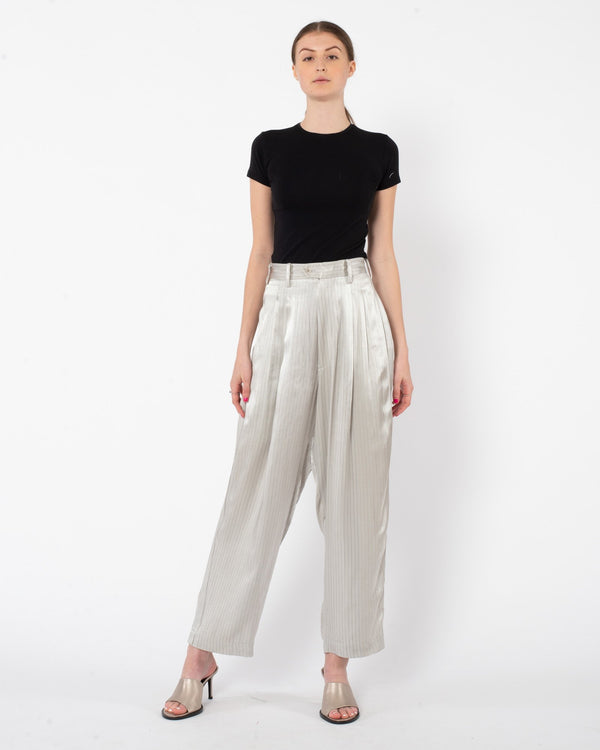 Y'S - U-Side Stripe Wide Pant | Luxury Designer Fashion | tntfashion.ca