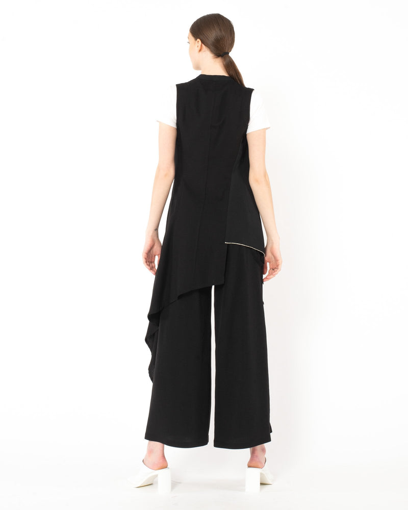 YOHJI YAMAMOTO - Asymmetrical Vest | Luxury Designer Fashion | tntfashion.ca