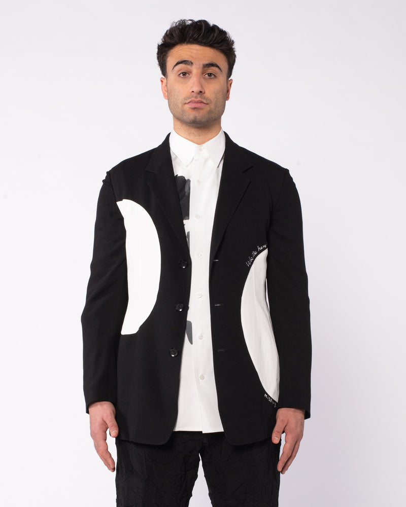 YOHJI YAMAMOTO - Patch Logo Blazer | Luxury Designer Fashion | tntfashion.ca