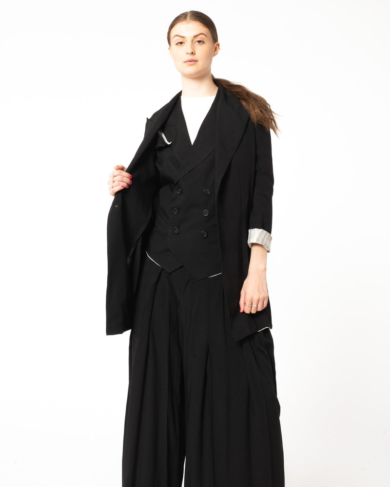YOHJI YAMAMOTO - Two Button Peek Jacket | Luxury Designer Fashion | tntfashion.ca