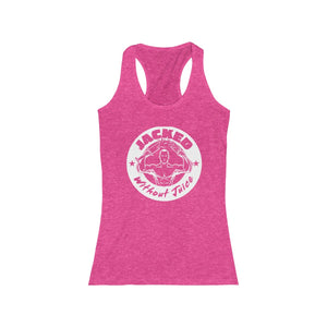 Women's Racerback Jacked Without Juice Large Logo Tank