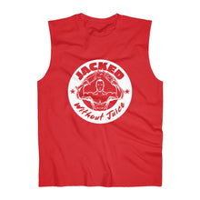 Load image into Gallery viewer, Men's Sleeveless Tank Jacked Without Juice Large Logo