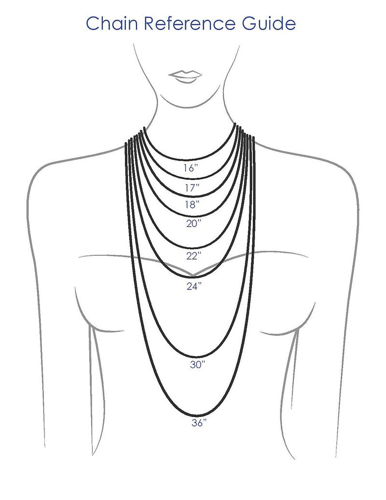 Chain necklace size
