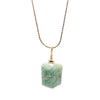 Amazonite necklace gold