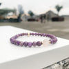 Lepidolite and rose quartz bracelet