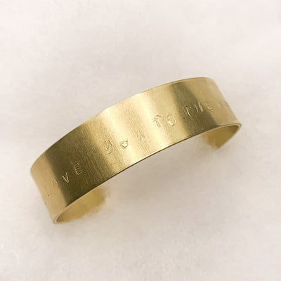 Intention bangle gold: I love you to the moon