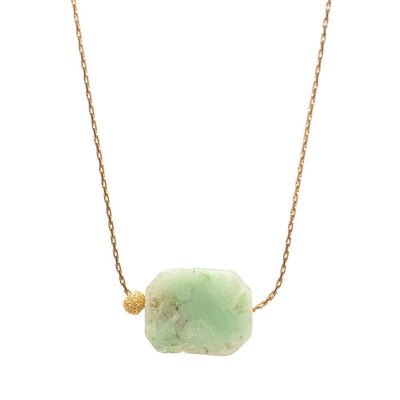 Gold necklace Jade