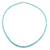 Amazonite gold disks necklace