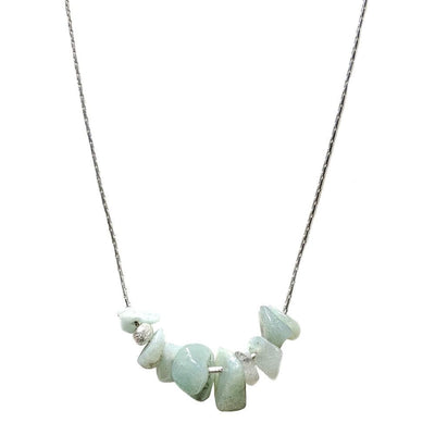 Sterling silver necklace aquamarine