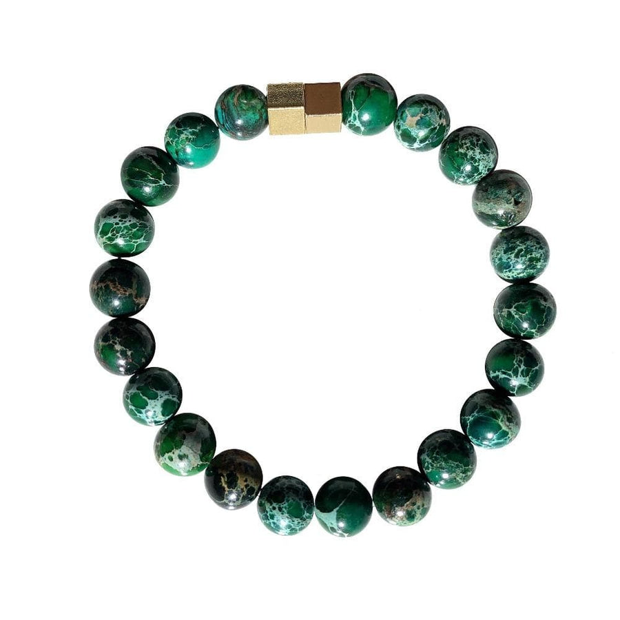 Green regalite bracelet