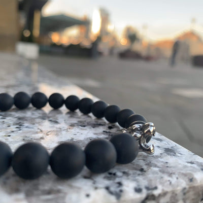 Men Tiger Bracelet Black Onyx