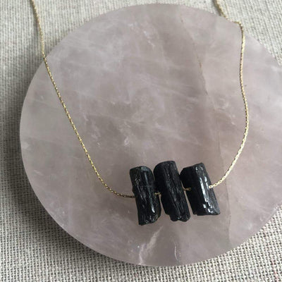 Mi Cielo London Necklace Black tourmaline necklace