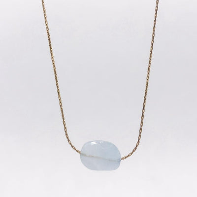 Mi Cielo London Necklace Gold Aquamarine necklace