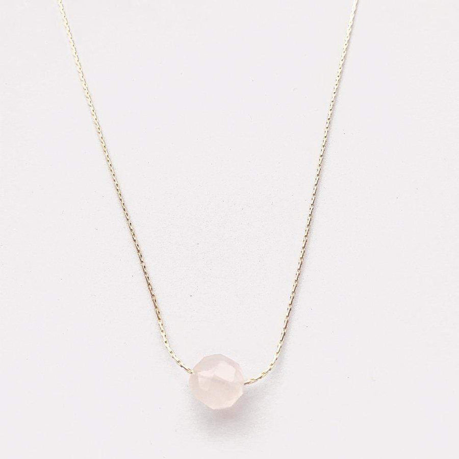 Mi Cielo London Necklace Rose quartz necklace