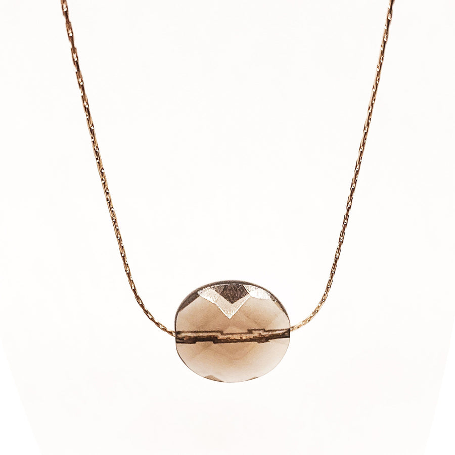 Mi Cielo London Necklace Gold filled 14k Smoky quartz necklace