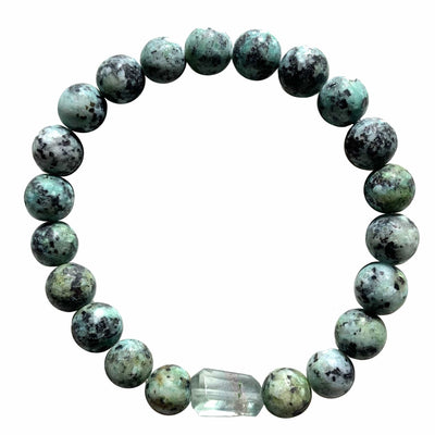 African turquoise and fluorite bracelet