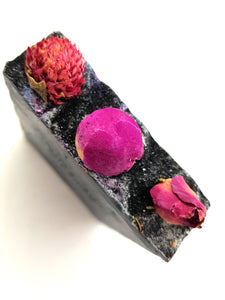 Peony & Blush Suede Charcoal Soap Bar