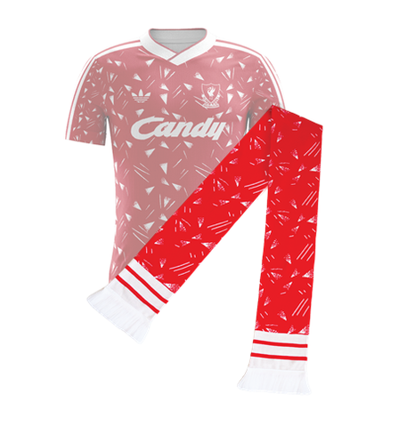 Liverpool Retro Football Scarf, inspired by 1990 title winning shirt
