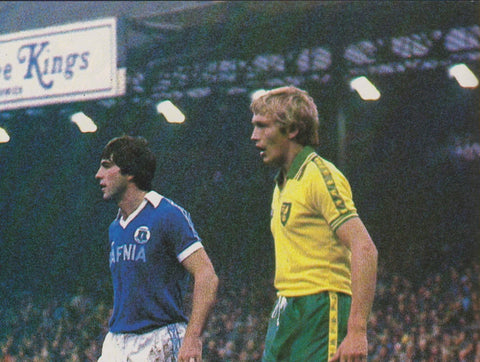 Everton v Norwich, 18th August 1979, Hafnia sponsor