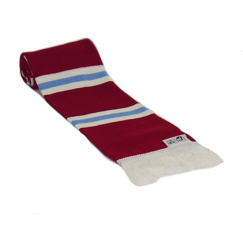 Claret, White and Blue Retro Football Bar Scarf - Fans' Favourite Retro Scarf