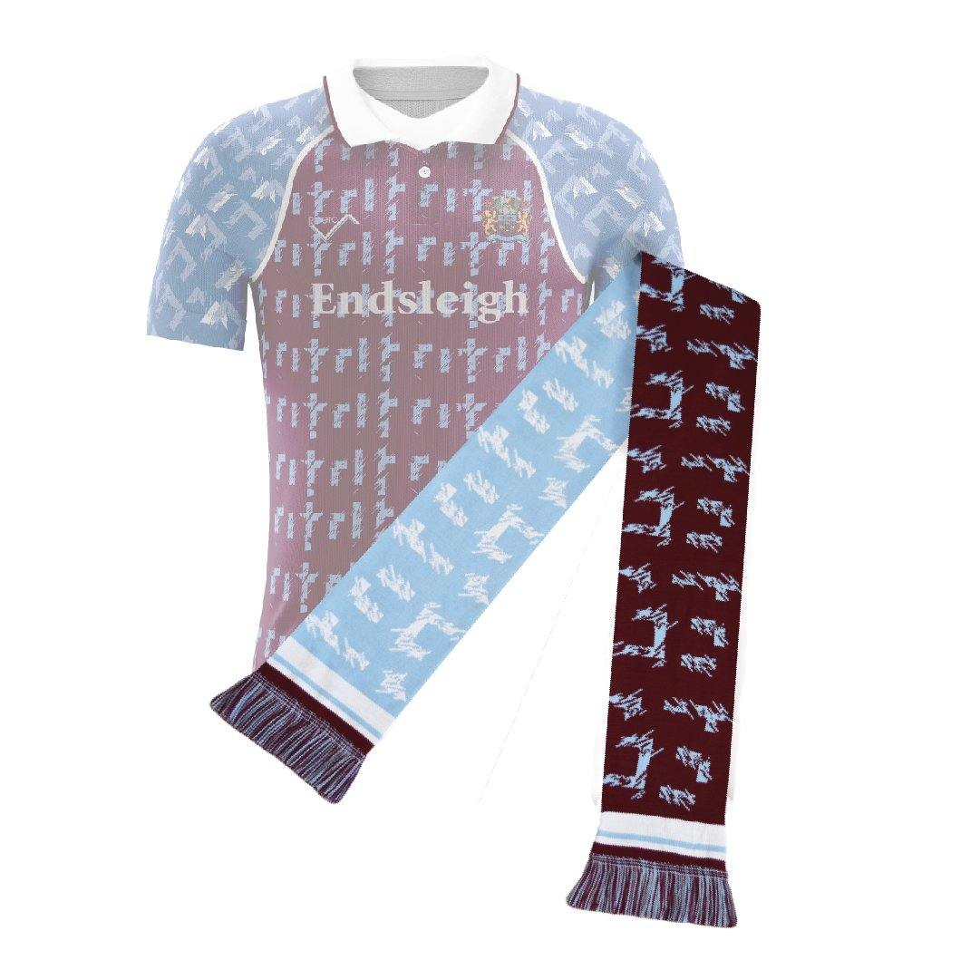 Burnley Retro Football Scarf - 1991-'93 Home - Fans' Favourite
