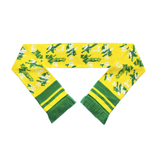 Norwich City Retro Football Scarf - Egg and Cress - Fans' Favourite