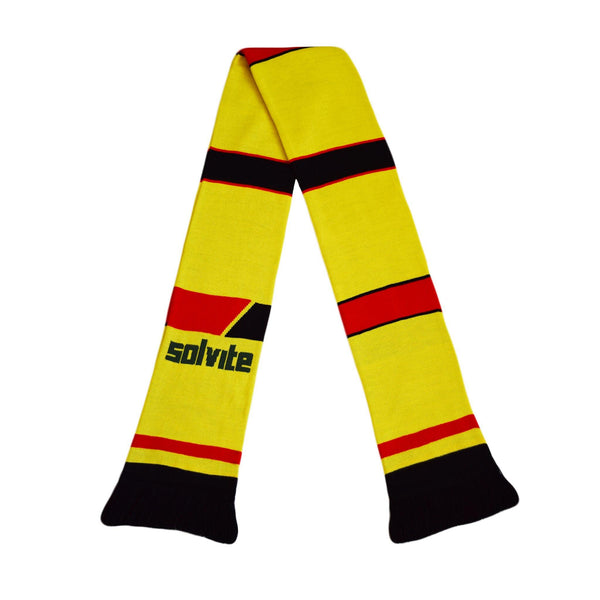 Watford Retro Football Scarf - 1985-'88 Home - Fans' Favourite