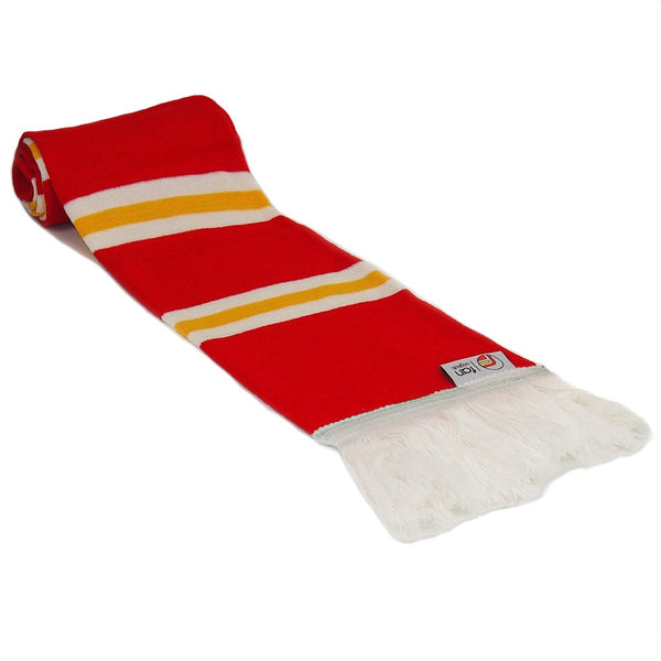 Liverpool Retro Football Bar Scarf - Red, White and Yellow
