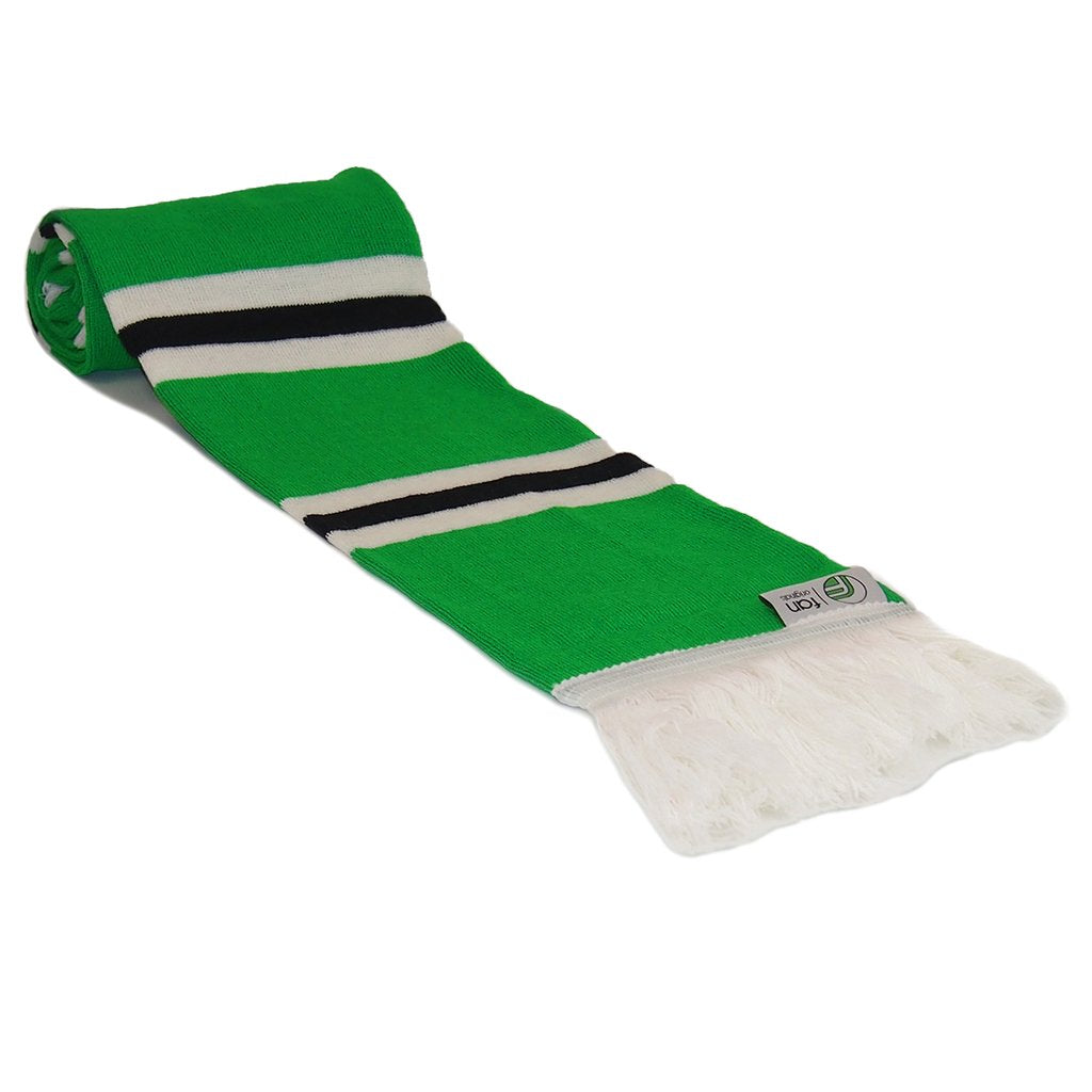 Northern Ireland Scarf - Green, White and Black Striped Scarf - Fans' Favourite Retro Scarves