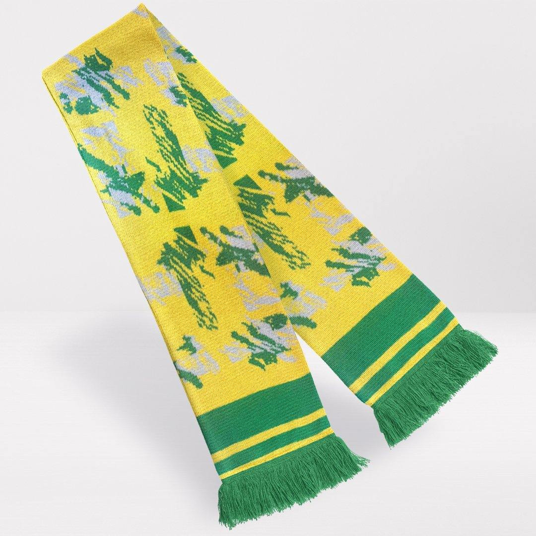 Norwich City Retro Football Scarf - Egg and Cress