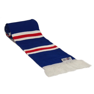Rangers Scarf - Blue, White and Red Bar Striped Scarf