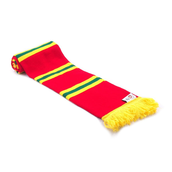 Wales Scarf - Retro Football Bar Striped Scarf - Red, Yellow and Green