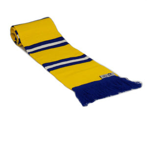 Leeds Bar Striped Football Scarf - Away Yellow Blue and White - Fans' Favourite