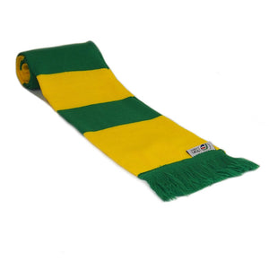 Yellow and Green Retro Football Bar Scarf