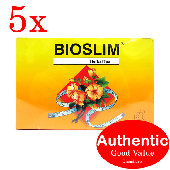 Bioslim herbal laxative tea 30 teabags - 5 packs
