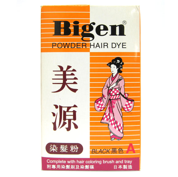 Bigen Powder Hair Dye - Black Color A 6g Japan