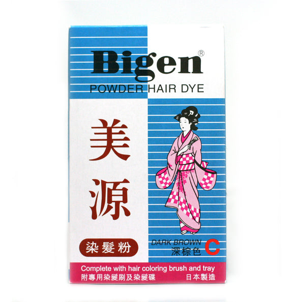 Bigen Powder Hair Dye - Dark Brown Color C 6g Japan