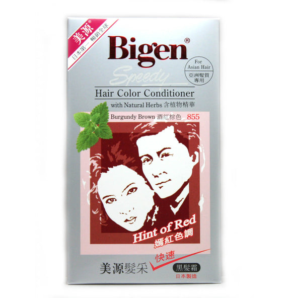 Bigen Speedy Hair Conditioner - Burgundy Brown Color 855 Jap