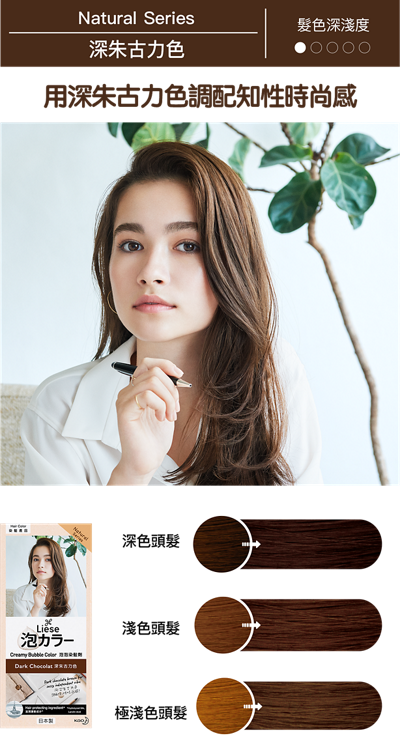 KAO Liese Soft Bubble Hair Color (Dark Chocolate) - New Package
