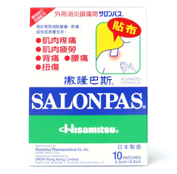 Salonpas (6.5cm x 4.2cm -small) 10 patch