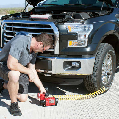 inflating truck tire with mf-1050